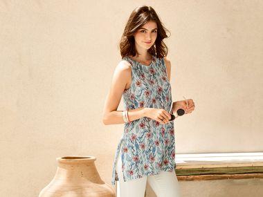 aedceefe7d 9. online · Camiseta larga de lino mujer